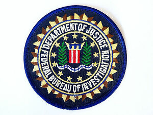 VINTAGE-FBI-EMBROIDERED-SHOULDER-PATCH-IRON-SEW-ON-CLOTH-WOVEN-BADGE