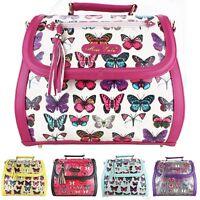 Designer Vintage Butterfly Patent Leather Tassel Satchel Shoulder Tote Hand Bag