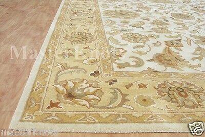 Brand New Hanan Gold Ivory 9x12 12x9 Persian Handmade Woolen Area Rug Carpet
