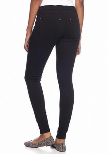 MSRP $44 HUE U15154 Black Super Smooth Stretch Denim Legging