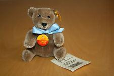 Steiff original Teddy 12 cm caramel NEU,  Knopf, Fahne 030123, Schild, Schleife