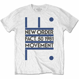 New-Order-039-Movement-039-T-Shirt-Official-Merch-Joy-Division-Factory
