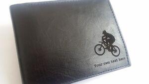 Montagne-Cyclisme-Personnalise-Cuir-Homme-Portefeuille-Article-Cadeau-MTB