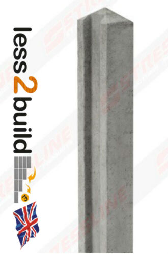Concrete Slotted Fence Post 8ft Fencing Stressline