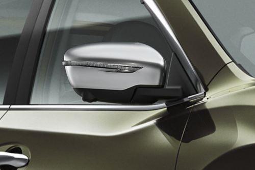 Nissan Qashqai X Trail 2014-2017 Door Mirror Caps Set In Ice Chrome KE9604E500IC