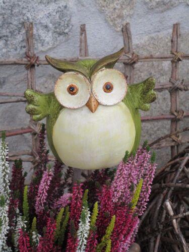 Zaunkocker Eule zur Wahl Herbst Uhu Garten Terrasse Beet Zaun Figur Poly Deko