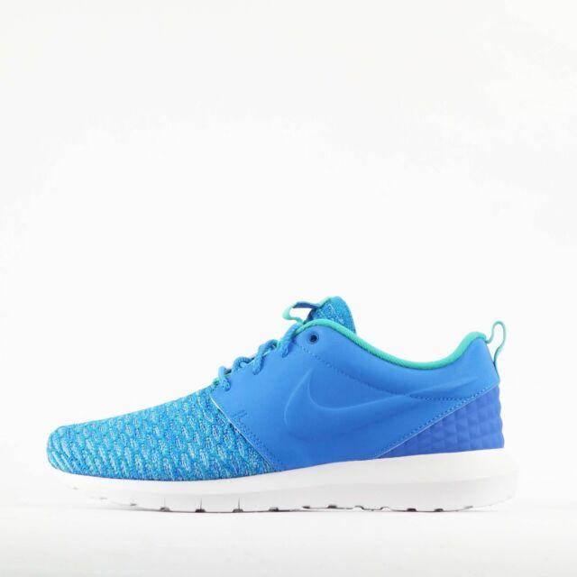 61e0443f3c092 Nike Roshe NM Flyknit PRM Rosherun Blue Mens Running Shoes 746825 ...