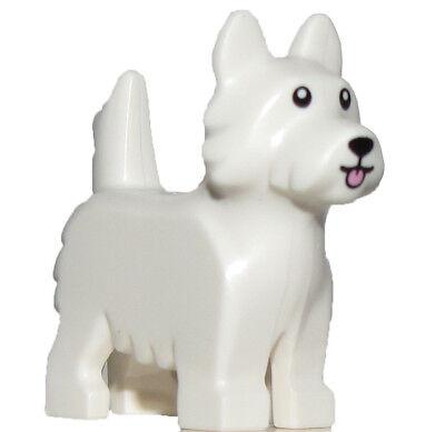 Affidabile Lego Bianco Nuovo Minifigure Terrier Cane Carino Scotty Animali Cucciolo Friends