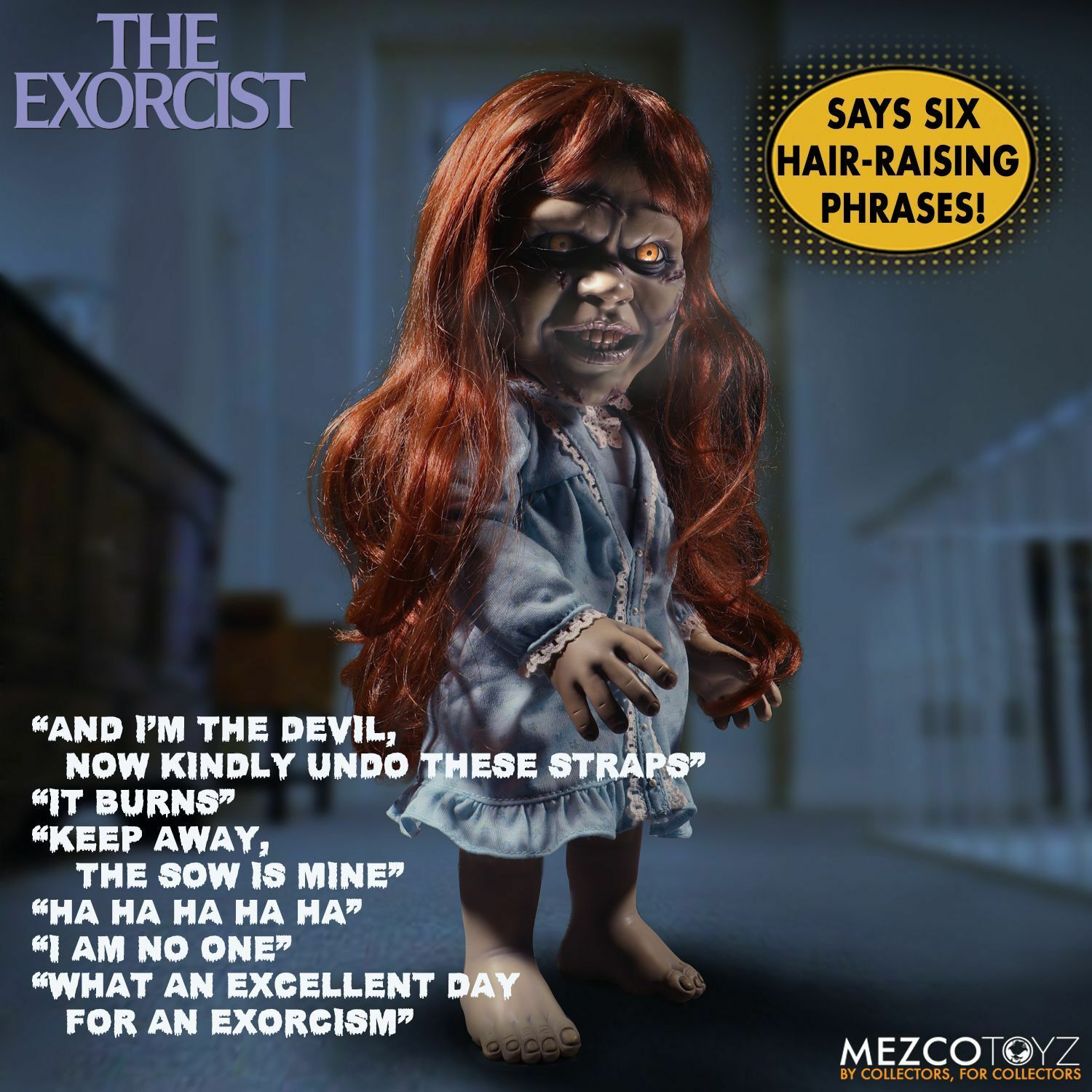 The Exorcist Regan Mega Scale 15 inch with Sound by Mezco SLIGHTLY DENTED BOX