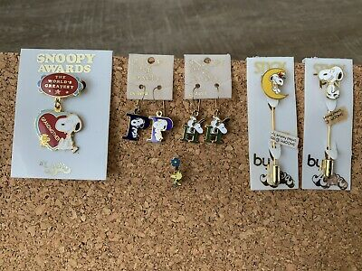 stick Pins and More 1970s Snoopy Jewelry Earrings