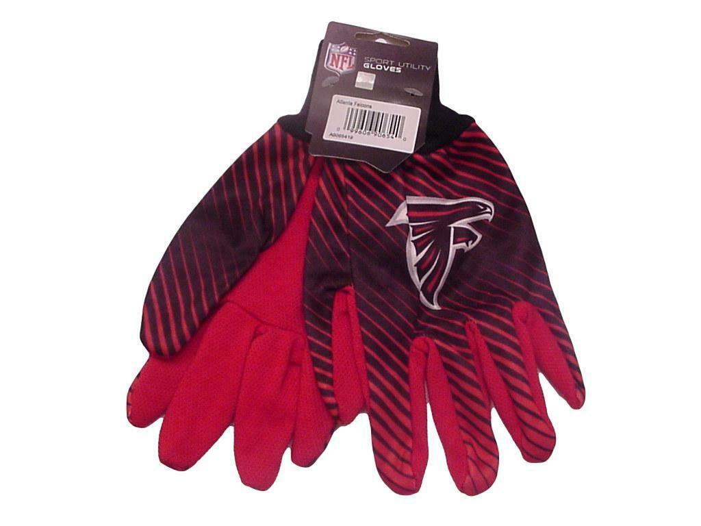 Atlanta Falcons Gloves Sport Utility Stripe Official Logo Win-Craft Adult OSFM