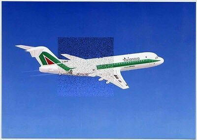 Digital Picture On Photo Paper - Factory Issue - Fokker 70 Avianova Alitalia