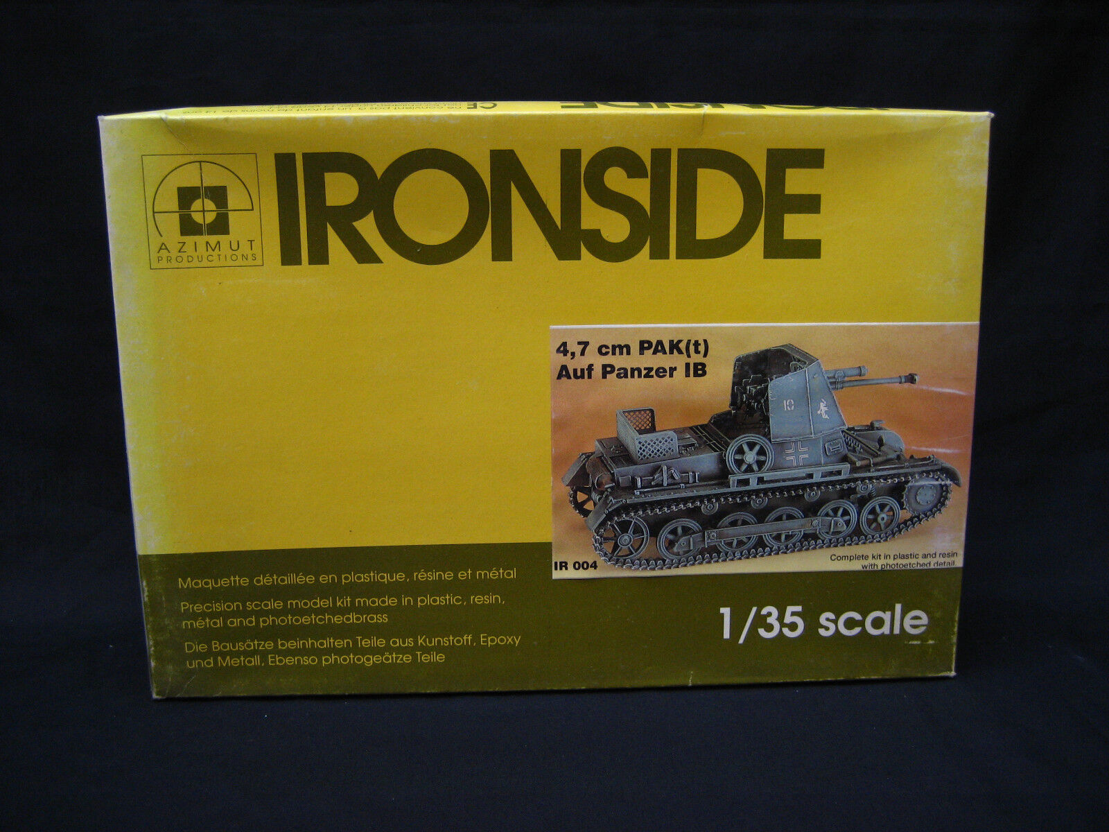 AZIMUT- IRONSIDE 1 35 SCALE 4,7 CM PAK(T) Auf Panzer IB MODEL KIT PLASTIC+RESIN