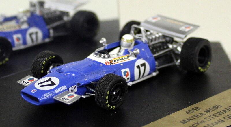 Quartzo 1 43 Scale 4059 Matra MS80 Canadian GP 1969 J. Stewart Diecast F1 Car
