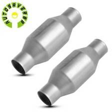 Pair 2pcs 3 Inletoutlet Universal Fit Catalytic Converter Epa Obdii 410300