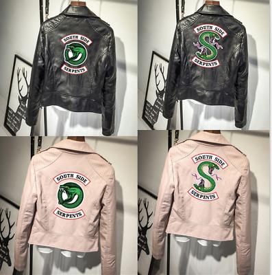 Riverdale South Side Serpents Faux Leather Jackets Women Lady Short Coat Cool