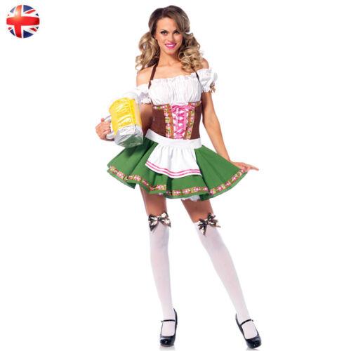 German Wench Bavarian Beer Maid Costume Octoberfest Fraulein Fancy Dress