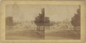 Parigi Pont Jena Campi Da Mars Foto Stereo Vintage Albumina Ca 1860