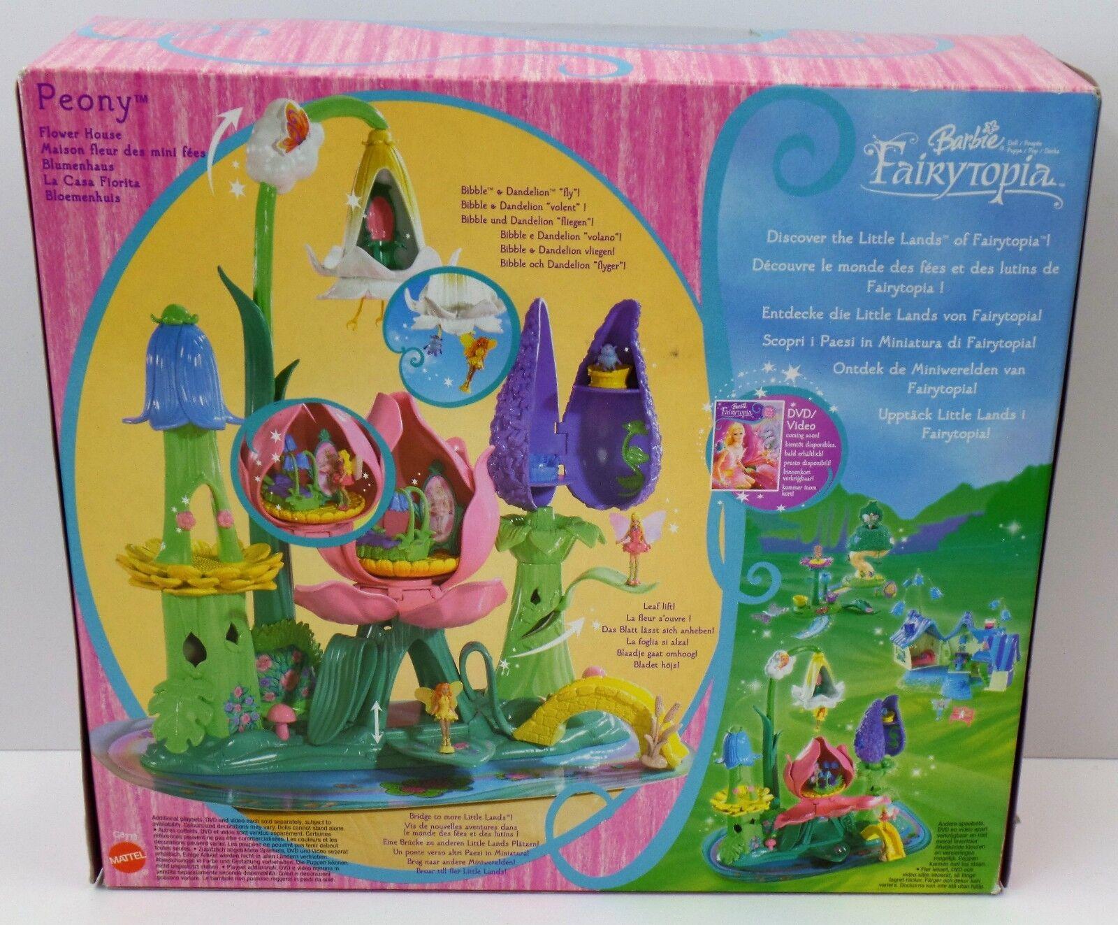 Mattel Barbie Fairytopia Peony Set Set Set Blaumenhaus - NEU NEW cca86a