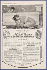 Vintage 1919 NU BONE Corsets Women's Garments Lingerie Fashion Ephemera Print Ad