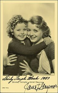 3-Shirley-Temple-Janet-Gaynor-Preprinted-Signed-Photos-Pictures-NEW-Preprints