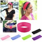 Women Men Sport Sweat Sweatband Headband Yoga Gym Stretch Head Band Hair US SHIP