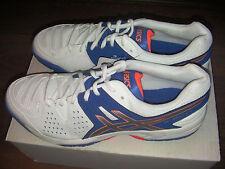 Asics Gel dedicar 4 Hombre Tennis Zapatillas-Blanco UK11 (EU46, US11.5) - Nueva