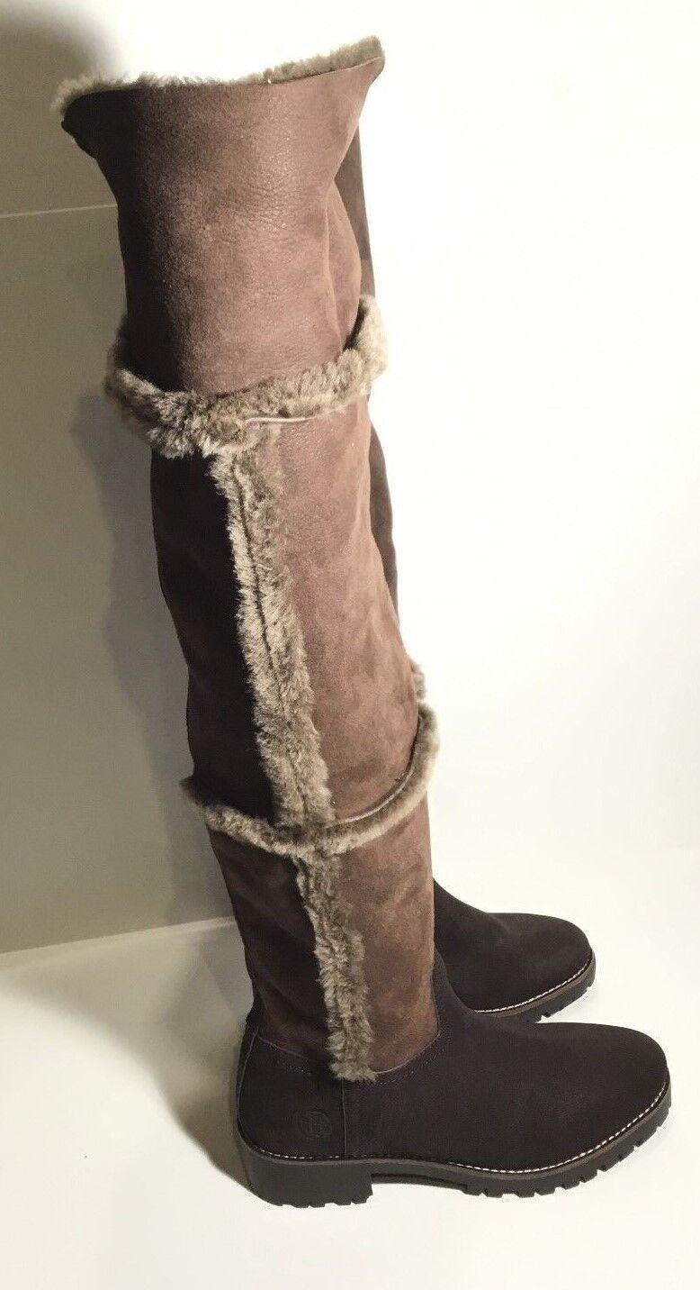 negozio fa acquisti e vendite Tory Burch Marrone Over The Knee Knee Knee Shearling stivali - Dimensione 6  alta qualità genuina