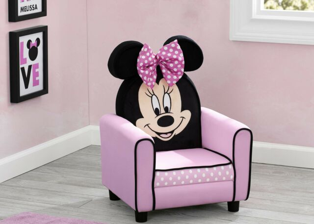 Disney Minnie  Mouse Upholstered Kids Sofa Chair for Kids Toddler Room Furniture