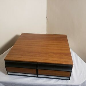 Details About Vintage Wooden Audio 2 Drawer 24 Cassette Tape Holder Storage  Cabinet Case