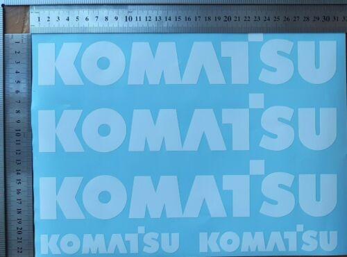 KOMATSU aufkleber sticker set satz WEISS