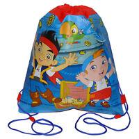 12 Disney Jake & The Pirates Sport Drawstring Sling Bag Backpack Party Favor