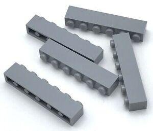 Lego-5-Nuevo-Luz-Gris-Azulado-Ladrillo-1-x-6-Bloques-de-Construccion-Piezas