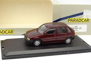 Paradcar-Resine-1-43-Citroen-AX-5-Portes-Rouge