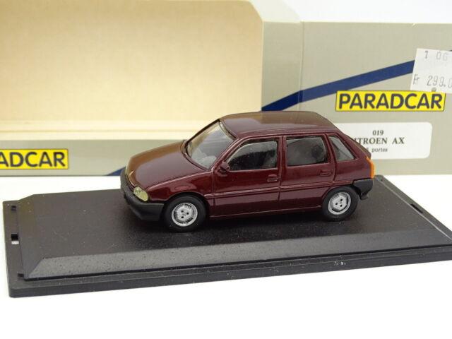 Paradcar Résine 1/43 - Citroen AX 5 Portes Rouge