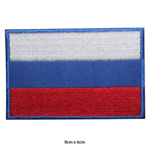 Russia-National-Flag-Embroidered-Patch-Iron-on-Sew-On-Badge-For-Clothes-Bags-etc