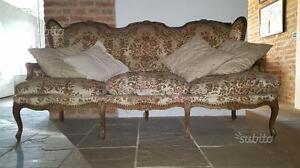 Divano 3 posti stile barocco piemontese inizio 900 | eBay