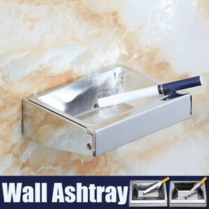 Wall-Mounted-Stainless-Steel-Cigarette-Smoking-Ashtray-Top-Square-Pocket