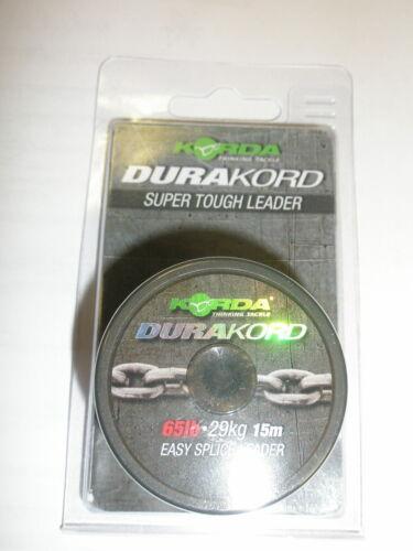 Korda Durakord Super Tough Easy Splice Leader ALL VARIETIES Carp fishing tackle