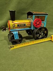 Tin Toys Toy Tractor Compactor Years 60 Brand Knd
