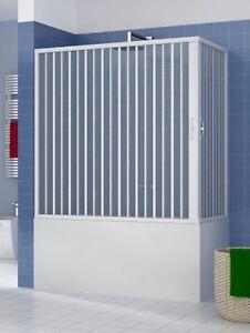 Cabine Pour Baignoire En Pvc A Deux Cotes Avec Ouverture Centrale