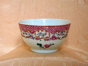 Cie Indes Chinese Export Sorbet Famille Rose Decor Floral 18e S. Qianlong Moins Cher