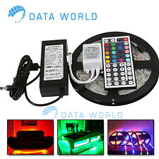 16.4FT SMD 5050 NON Waterproof 300LEDs RGB Flexible LED Strip Light Lamp Kit