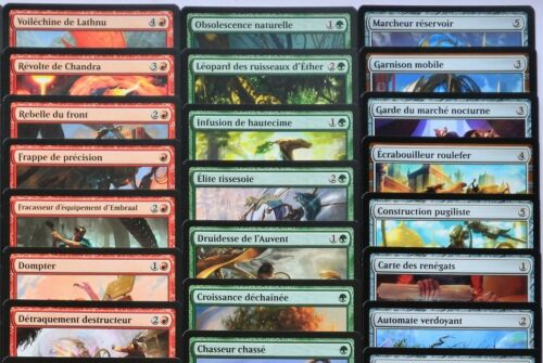 Lot of all 171 common cards from the Bloc kaladesh magic mtg french