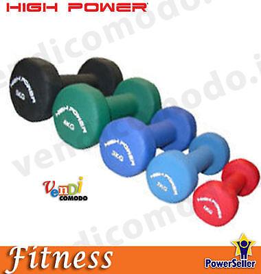 Coppia manubri neoprene 4 kg  HIGH POWER pesi manubrio palestra fitness pesistica  we supply the best