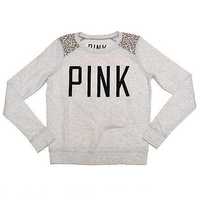 Victoria's Secret Pink Sweatshirt Lightweight Pullover Shirt Xs S M L Victorias