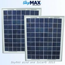2 - Solar Panels 15W 12 volt 36cell polycrystaline Off Grid RV Marine Battery PV