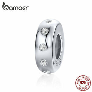 BAMOER-Authentic-925-Sterling-silver-Charm-Bead-Spacer-bead-Fit-Bracelet-Jewelry