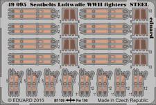 Eduard PE 49095 1/48 cinturones de seguridad Luftwaffe luchadores de acero de la segunda guerra mundial