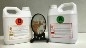 4kg Epoxy Resin Crystal Low Viscosity Penny Art River Table UV Resist BG9